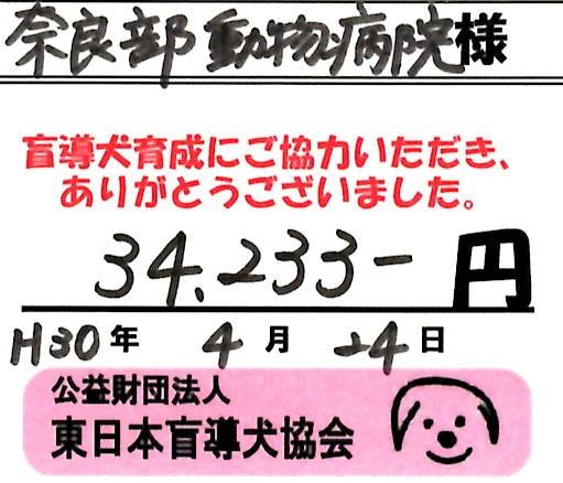 2018盲導犬募金